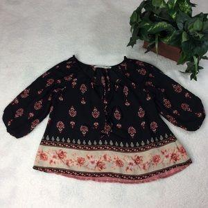 Liberty Love Floral Cold-Shoulder Blouse Size M